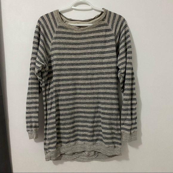 Wilfred Free Striped Crew Neck Sweater